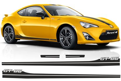 Picture of Toyota GT86 side Stripes  EXACT FACTORY FIT