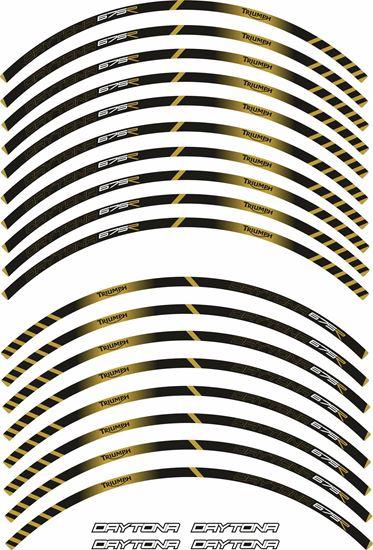 Picture of Triumph Daytona 675R Wheel rim Stripes  / Stickers