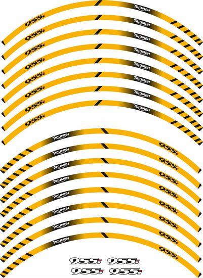 Picture of Triumph Daytona 955i Wheel rim Stripes  / Stickers