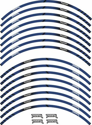 Picture of Triumph Tiger Wheel rim Stripes  / Stickers