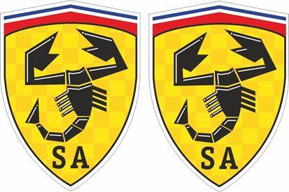 Picture of Fiat Scuderia Abarth Decals / Stickers