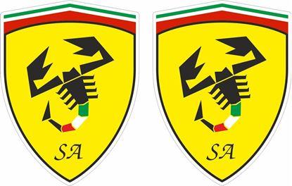 Picture of Fiat Scuderia Abarth Ferrari Decals / Stickers