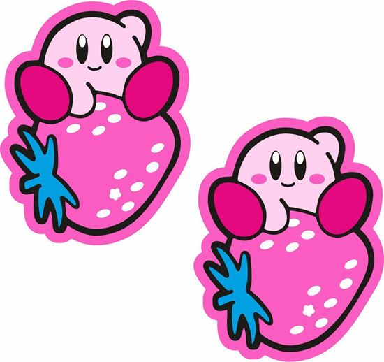 Picture of Strawberry Kirby Decals / Stickers