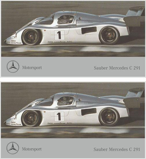 Picture of Mercedes Sauber C 291 Cat C 1991 Decals / Stickers