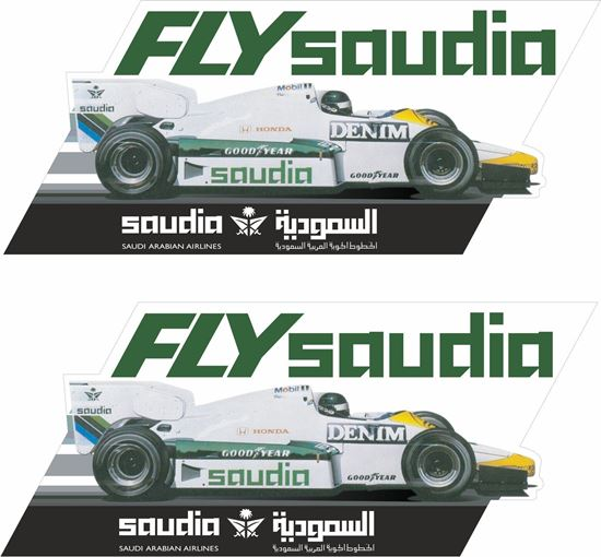 Picture of Fly Saudia Williams FW09 F1 GP Team 1984 Decals / Stickers