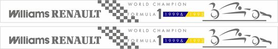 Picture of Renault Williams F1 Team 1992 1993 win Decals / Stickers