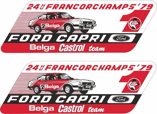 Picture of Belga Castrol Capri 3.0 Spa 24 Hours Decals / Stickers