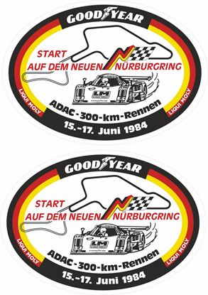 Picture of 1984 Nurburgring ADAC 300KM Interserie Decals / Stickers