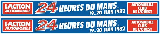 Picture of 1982 Le Mans 24 Heures Decals / Stickers