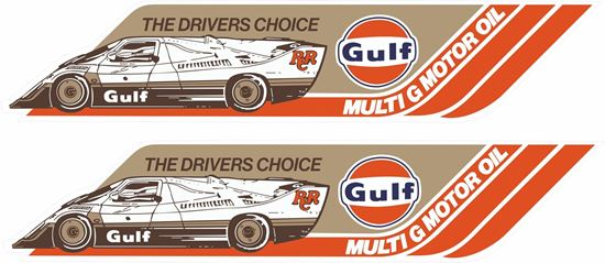 Picture of Kremer Gulf Racing CK5 Le Mans Decals / Stickers