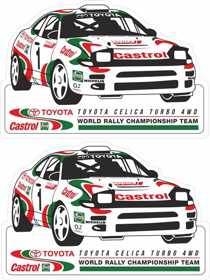 Picture of Toyota  Celica Castrol World Rally Team Decals / Stickers