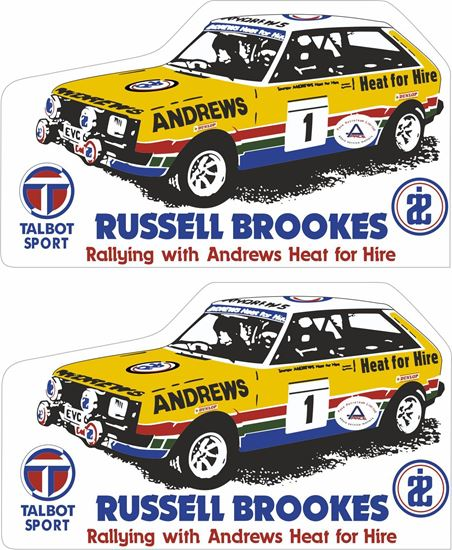 Picture of Russell Brookes Talbot Sunbeam Decals / Stickers