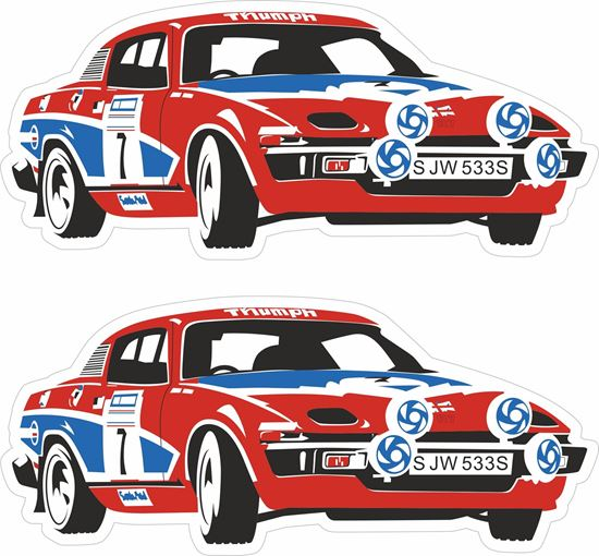 Picture of Triumph TR7 Racing Team Decals / Stickers