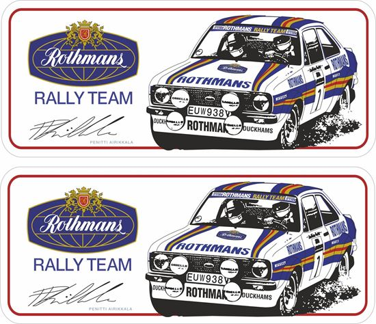 Picture of Rothmans Rally Team Penitti Airikkala Decals / Stickers