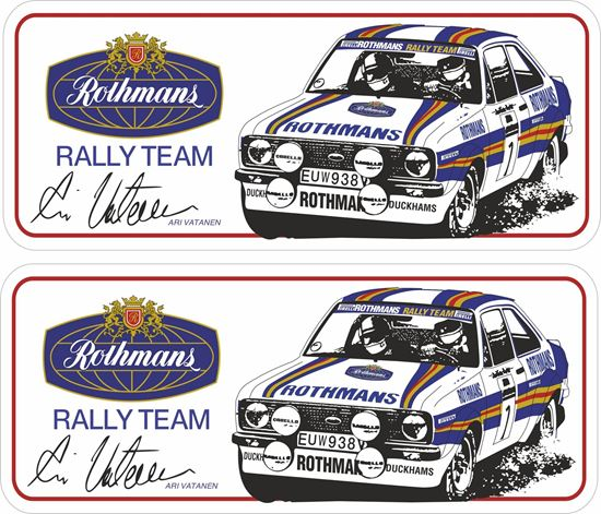 Picture of Rothmans Rally Team Ari Vatanem Decals / Stickers
