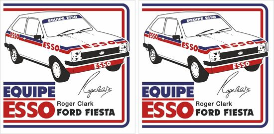 Picture of Triumph Roger Clarke Ford Fiesta Decals / Stickers