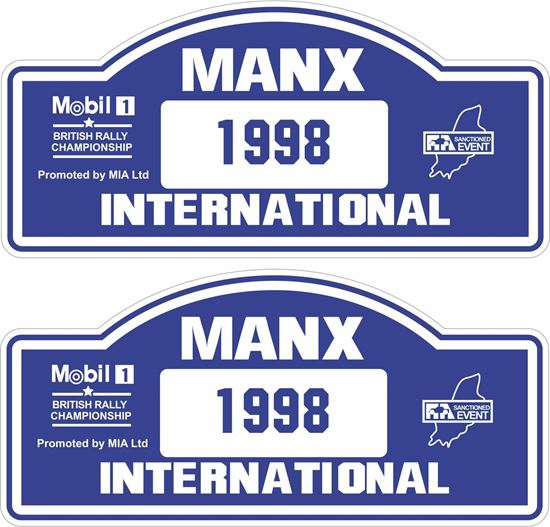Picture of Manx British Rally Championship 1998 Decals / Stickers