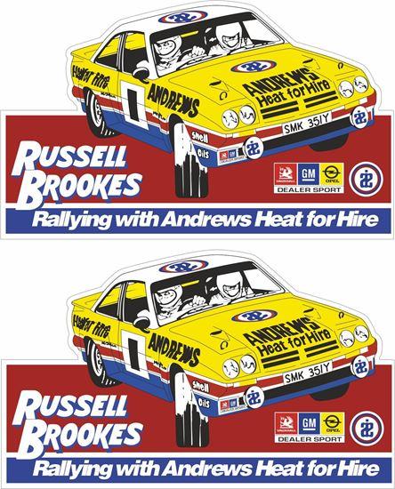 Picture of Russell Brookes Opel Manta Door Decals / Stickers