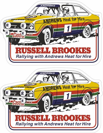 Picture of Russell Brookes Ford Escort MK2 Decals / Stickers