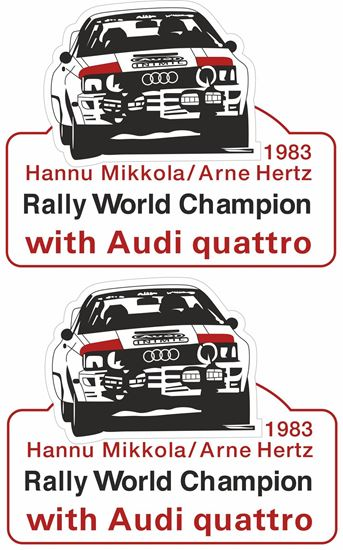 Picture of Audi Quattro World Rally Champion 1983 Decals / Stickers