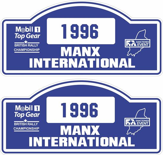 Picture of Manx British Rally Championship 1996 Decals / Stickers