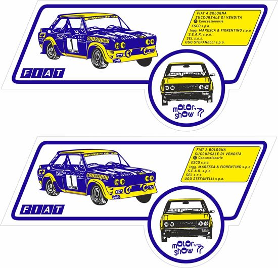 Picture of Fiat Abarth 131 Motor Show 1977 Decals / Stickers