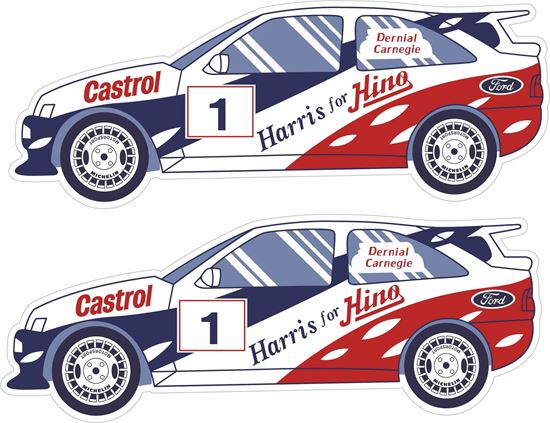 Picture of Dermont Camegie Ford Escort Cosworth Decals / Stickers