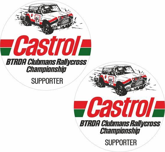 Picture of Castrol BTRDA Clubmans Rallycross Supporter Decals / Stickers