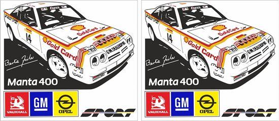 Picture of Bertie FIsher Opel Manta 400 Decals / Stickers