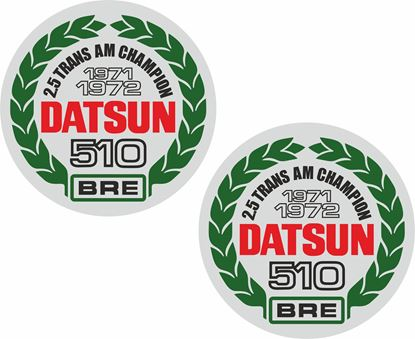 Picture of Datsun 510 BRE 2.5 Trans AM Champion 1971 - 72 Decals / Stickers