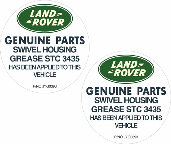 Picture of Defender 90 / 110 Swivel Housing Grease Decals / Stickers