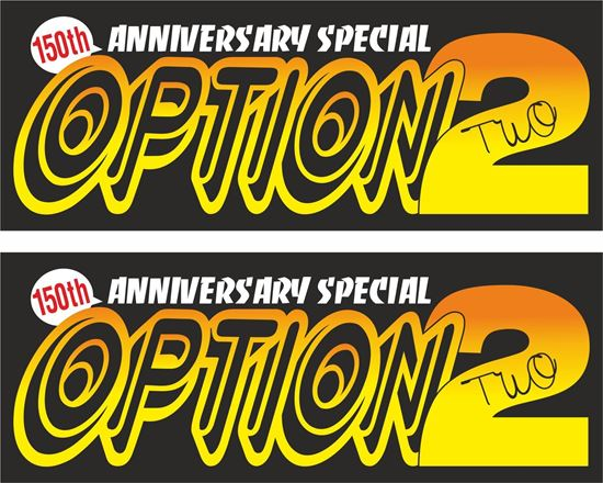 Picture of Option 2 50th Anniversary Special Decals / Stickers