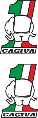 Picture of Cagiva 1 Elephant Decals / Stickers