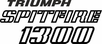 Picture of Triumph Spitfire 1300 replacement rear Decal / Sticker