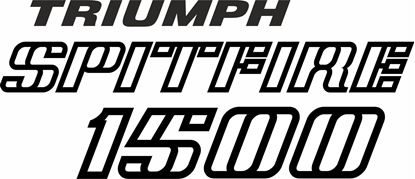 Picture of Triumph Spitfire 1500 replacement rear Decal / Sticker