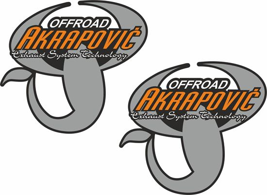 Picture of Akrapovic off road Decals / Stickers