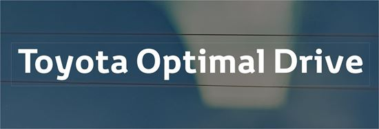 """Picture of Toyota """"Optimal Drive"""" replacement rear Glass Decal / Sticker"""