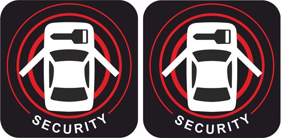 Picture of Nissan Security replacement side glass Stickers