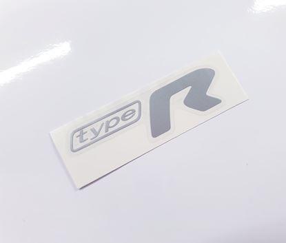 """Picture of Impreza STi """"Type R"""" rear Decal / Sticker Silver"""