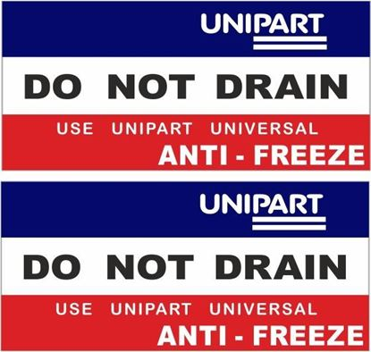 Picture of Unipart Anti - Freeze replacement Decals / Stickers