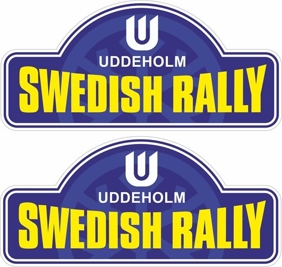 Picture of Swedish Rally Decals / Stickers