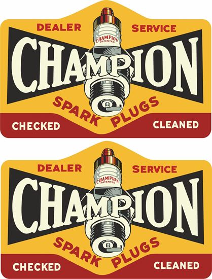 Picture of Champion Spark Plugs Decals / Stickers