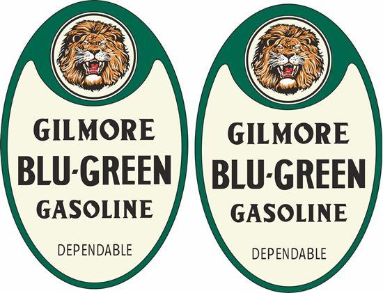 Picture of Gilmore Blu-Green Gasoline Decals / Stickers
