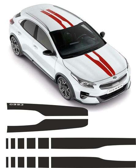 Picture of Kia XCeed 2020 over the top Stripes  EXACT FACTORY FIT