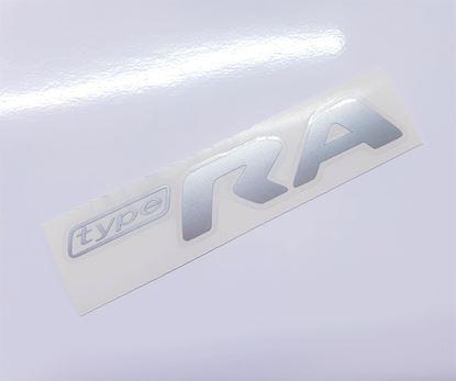 """Picture of Impreza STi """"Type RA"""" rear Decal / Sticker Silver"""