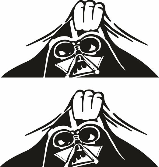 Picture of Panel edge Darth Vader Decals / Stickers