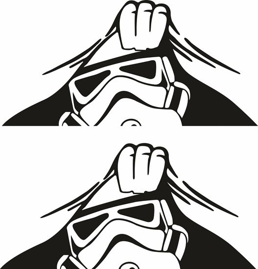 Picture of Panel edge Storm Trooper Decals / Stickers
