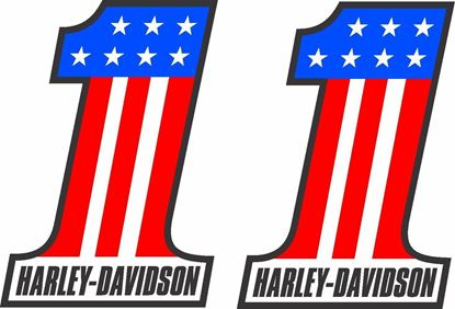 """Picture of Harley Davidson """"1"""" Decals / Stickers"""