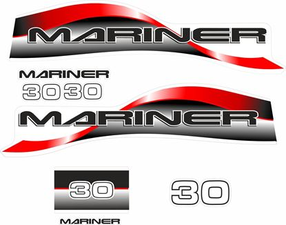 Picture of Mariner 30 replacement Engine Cover Decals / Stickers