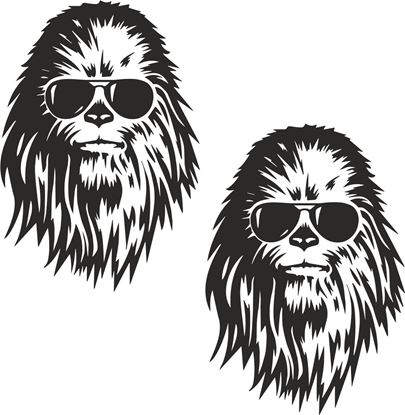 Picture of Chewbacca Decals /Stickers